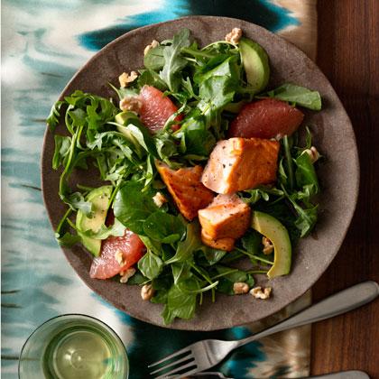 Grapefruit-and-Avocado-Salad-Seared-Salmon Recipe