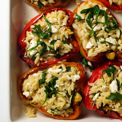 Orzo-Stuffed-Peppers Recipe