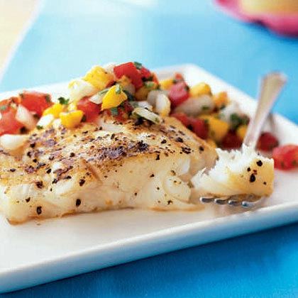 watermelon salsa recipe yummly grilled halibut with watermelon salsa ...