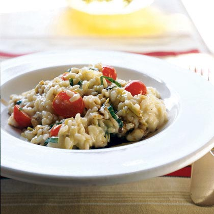 Risotto with Fresh Mozzarella, Grape Tomatoes, and Basil ...