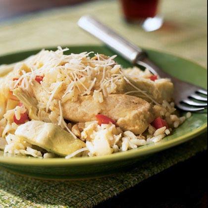 Lemon Chicken and Rice with Artichokes Recipe - Health.com