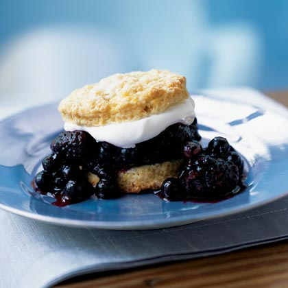 Blueberry-Blackberry Shortcakes Recipe