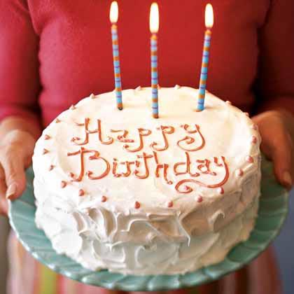 White Birthday Cake with Italian Meringue Icing Recipe - Health.com