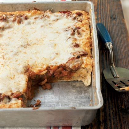 Sausage and Vegetable Deep-Dish Pizza Recipe - Health.com