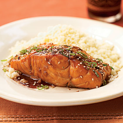 Bourbon glazed salmon recipe for Delicious fish recipes