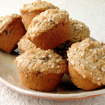 Oat-Topped Fig Muffins Recipe