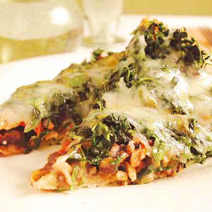 Mexican Black Bean and Spinach Pizza Recipe - Health.com