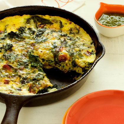 Frittata with Ricotta and Mixed Greens Recipe