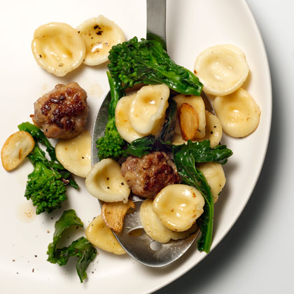 Orecchiette With Sausage Meatballs, Broccoli Rabe, and ...