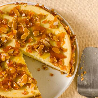 Amaretto Cheesecake with Almond Brittle Recipe