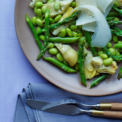 Artichoke, Edamame, and Asparagus Salad Recipe - Health.com