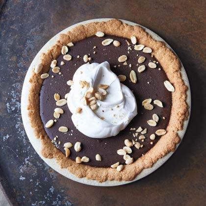 Chocolate Pudding Pie with Salted Peanut Crust Recipe