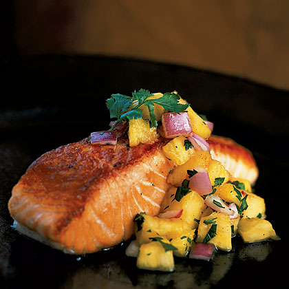 Pan Grilled Steak Pan-grilled Salmon With