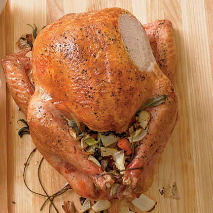 brined turkey three herb turkey broth easy herb rubbed roast turkey ...