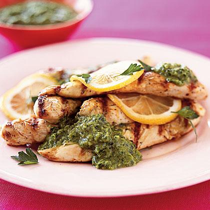 grilled-chicken-parsley-sauce Recipe