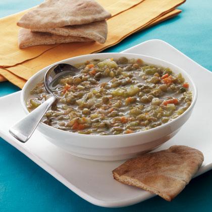 lentil-soup-toasted-pita Recipe