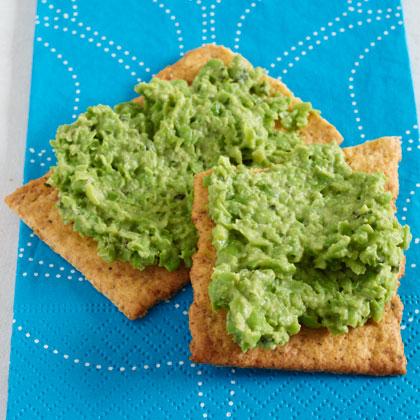 Mint-and-Pea Hummus on Flatbread Recipe