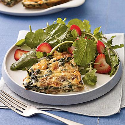 Mushroom and Spinach Frittata With Smoked Gouda Recipe - Health.com
