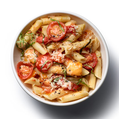 Pasta with No-Cook Tomato Sauce Recipe - Health.com