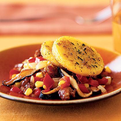 Polenta-Sausage Ragout Recipe
