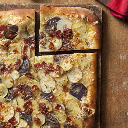 Potato, Rosemary, and Bacon Pizza Recipe - Health.com