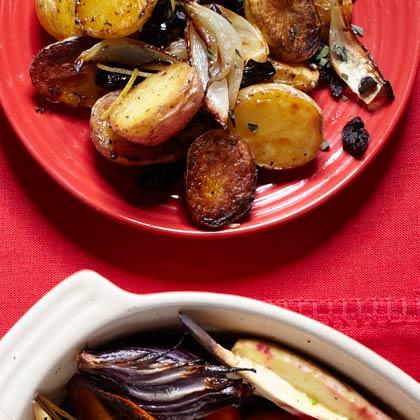 Roasted New Potatoes with Lemon, Oregano, and Olives Recipe
