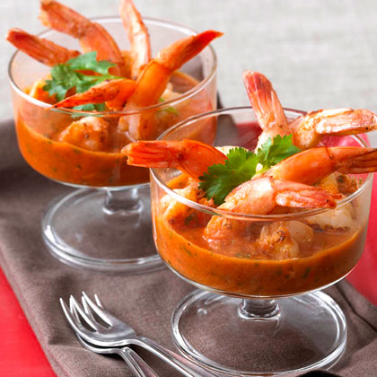 Roasted Shrimp with Smoked Chile Cocktail Sauce Recipe - Health.com