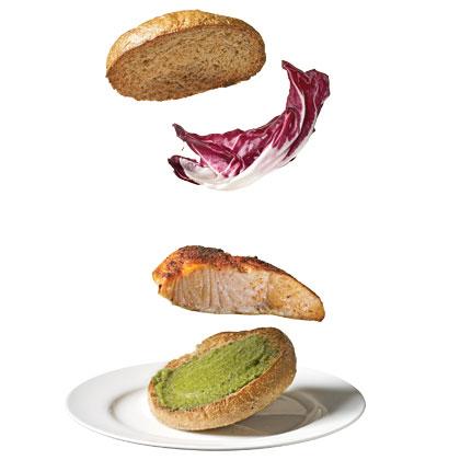 salmon-pesto-sandwich Recipe