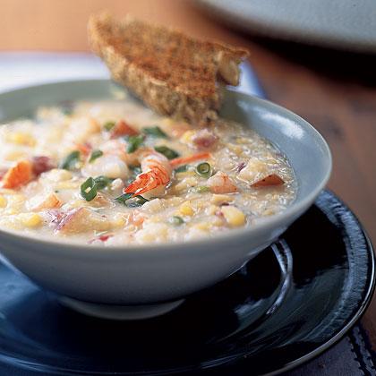 Shrimp-and-Corn Chowder Recipe - Health.com