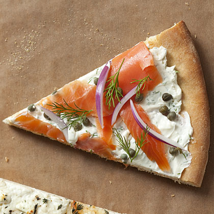 salmon pizza closeup smoked salmon pizza with red smoked salmon pizza ...