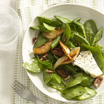 spinach-pear-blue-salad Recipe