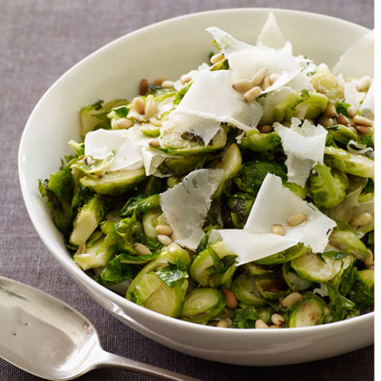 Sautéed Brussels Sprouts with Parmesan and Pine Nuts Recipe