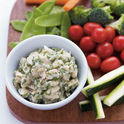 white-bean-and-herb-hummus-with-crudites Recipe