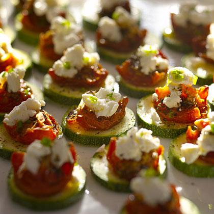 zucchini-tomato-cheese bites Recipe