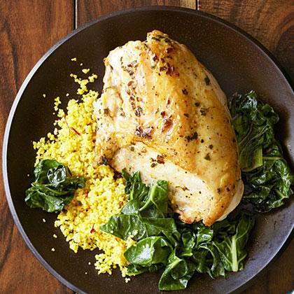 Quick Saffron Chicken With Couscous Recipe - Health.com