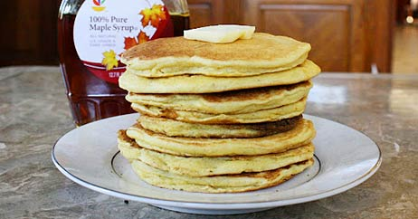 gluten free dairy pancakes 462x242 Recipe Makeover: Gluten  and Dairy Free Pancakes