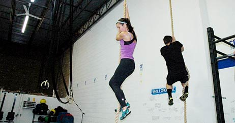 tina rope climb 462x242 New Workouts, Big Results!