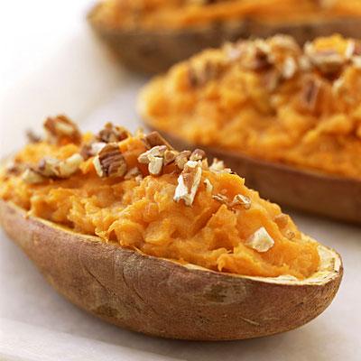 Twice-Baked Sweet Potatoes - 25 Healthy Sweet Potato Recipes - Health ...