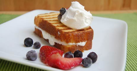 grilled pound cake 462x242 Recipe Makeover: Lighter, Protein Packed Pound Cake