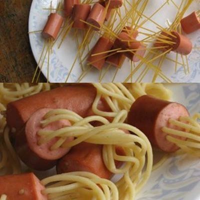 spaghetti-hot-dogs
