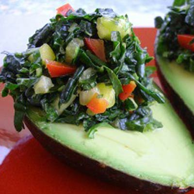 kale stuffed avocado 400x400 Favorite Pins of the Week: Tasty Kale Recipes
