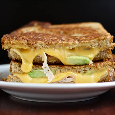 turkey avocado grilledcheese 400x400 Better For You Golden Gate Grilled Cheese