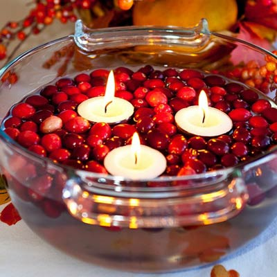 cranberry votive bowl 400x400 Favorite Pins of the Week: Fun Thanksgiving Ideas