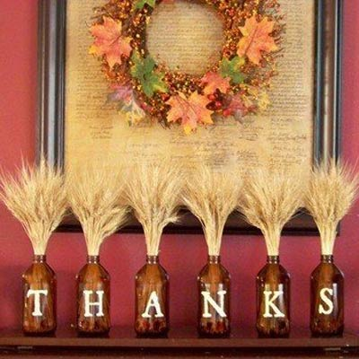 thanksgiving mantle 400x400 Favorite Pins of the Week: Fun Thanksgiving Ideas