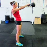 crossfit kettlebell swings 200x200 A Quick and Sweaty CrossFit Inspired Workout