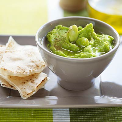 Roast garlic and edamame dip - Snacks That Burn Fat - Health.com