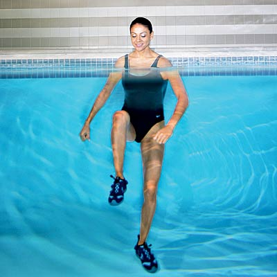 Making Tracks Thinner Thighs With Pool Exercises