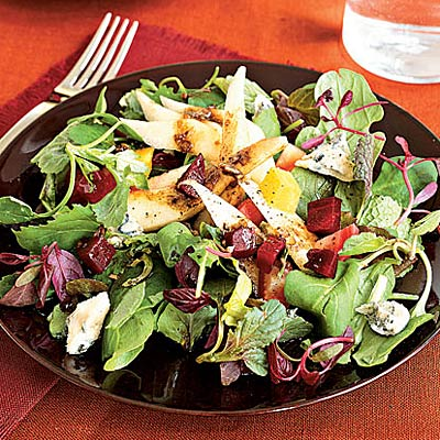 Pear, Beet, and Gorgonzola Green Salad - Healthy Fall Meals - Health ...