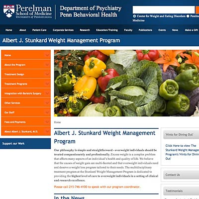 The Albert J. Stunkard Weight Management Program at the University of ...