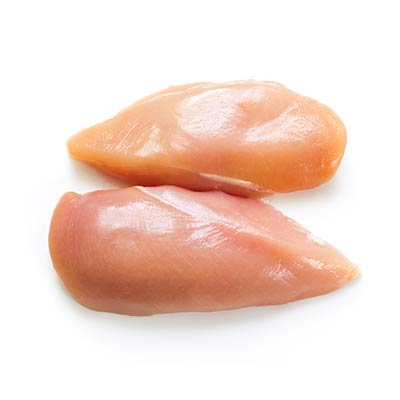 how to cut raw chicken breasts